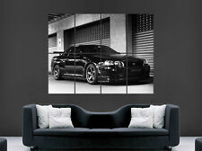 NISSAN GTR R34 POSTER BLACK SKYLINE FAST CARS SPEED  WALL PRINT
