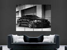 "NISSAN GTR r34 POSTER Nero Skyline Fast Cars ""Speed Muro Stampa"
