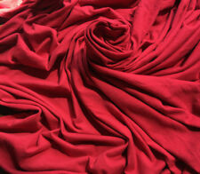 Organic Cotton Jersey Knit Fabric Ecofriendly OEKO Certified 6.5 oz cherry red