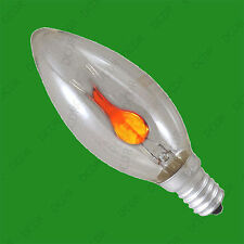 E14 Flickering Flame Candle Light Bulb SES Decorative Lamp Romantic Meals etc.