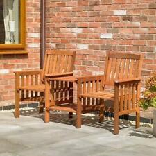 Garden Love Seat Bench 2 Seater Hardwood Outdoor Patio Furniture Set