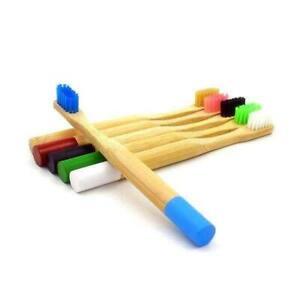 Brosse à dents enfant en bambou 6 couleurs