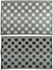 Esschert Design Outdoor Rug Circles 174x121cm Black and White Blanket Oc17