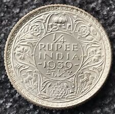 1939C India-British 1/4 Rupee Gem Brilliant Unc