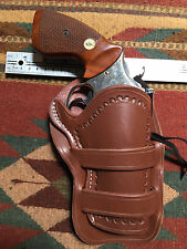 "Smith & Wesson S&W M 586 686 66 19 10 4"" Barrel Western Cowboy Leather Holster"