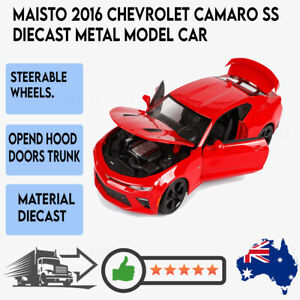 Maisto 1:18 2016 Chevrolet Camaro SS Diecast Metal Red Diecast Car Collector Toy