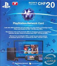 20 CHF PlayStation Network Card Sony PSN Gutschein Key nur für Schweiz NEU [CH]