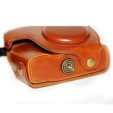 ecopelle marrone Fotocamera In Pelle custodia borsa per Canon G16/G15 Digitale