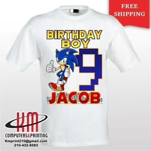 Sonic the Hedgehog Custom T-shirt PERSONALIZED Birthday Shirt
