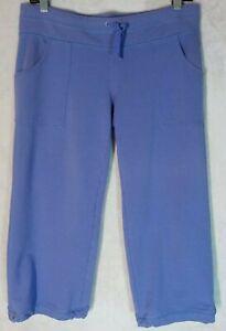 Athleta Women's Small Pull-On Pants Purple Pockets Lounge Athletic Drawstring