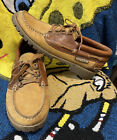 MEPHISTO Slacker Men's Air Relax Leather Boat Shoes Sz US 10 Brown