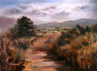 """Auburn Landscape Oil Painting 5""""x7"""" Art by Jeff Ward"""