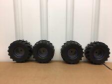 K New Bright 1/10 Son-uva Grave Digger Monster Jam Tire & Wheel Set Only
