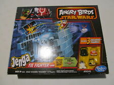 Angry Birds Star Wars Jenga TIE Fighter game, new open box, Han Solo R2-D2 Luke