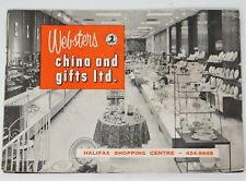 Vtg Pamplet Websters China & Gifts Ltd Halifax Shopping Center