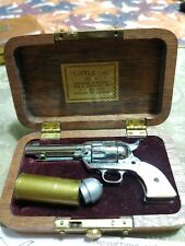 Vintage Little .45 American Miniature Gun Hollywood Calif. in Case #a