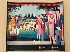 GIANCARLO IMPIGLIA,'A DAY AT THE RACES, 1989' MEGA RARE AUTHENTIC 1989 ART PRINT
