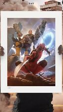 Sideshow Collectibles Deadpool And Cable Art Print  New !