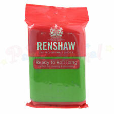 Renshaw Ready to Roll Icing 250g Cake Decorating Fondant Sugarpaste Assorted Lincoln Green 2606