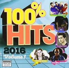 100% HITS 2016 Vol 1 CD [PA] Ft.SIA/Twenty One Pilots/Coldplay/Kiiara+