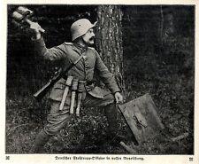 Deutscher Stoßtrupp-Offizier in voller Ausrüstung c.1917