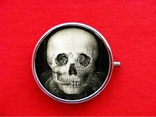 VICTORIAN CLOWN SKULL ROUND METAL PILL MINT BOX CASE
