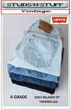 VINTAGE LEVIS ( A GRADE ) DENIM JEANS 550'S RELAXED FIT TAPERED LEG W30 W31 W32
