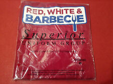 Kitchen Apron (Red White and Barbecue) print New