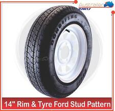 """RIM and TYRE 14 INCH SUNRASIA FORD STUD PATTERN 14""""  LIGHT TRUCK 185 R 14 C"""