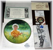 A Time For Piece Our Children Our Future Porcelain Plate COA Box Mint