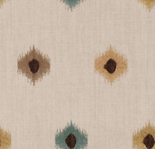 Fabricut Foresight Teal Embroidered Drapery Fabric Neutral Designer Decorator