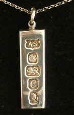 Solid Silver Ingot Pendant  With Silver Chain 15 gm