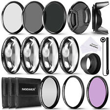 Neewer 58MM Complete Lens Filter Accessory Kit for Lenses with 58MM Filter Size