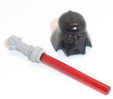 Lego Medio Piedra Gris Cabello X 1 barrido de vuelta con quemaduras lateral para Minifigura