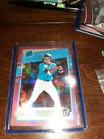 2020 Donruss Parallel Holo Pink #48 ISAN DIAZ MIAMI MARLINS ROOKIE CARD