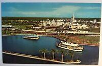 Walt Disney World The Magic Kingdom 1974 Postcard Orlando Fl Birds Eye View