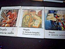 MAGDA W ŚWIECIE ROŚLIN, KSIĄŻKI, ZWIERZĄT - 3 POLISH KIDS BOOK, POLSKA KSIĄŻKA