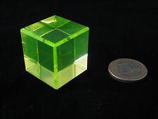 Würfel aus massivem reinem Uranglas - Auch als Prüfstrahler für Geigerzähler