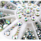 5 Sizes Crystal Glitter Rhinestone Nail Art Tips Decoration Wheel
