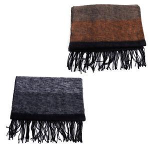 Fashion Men Warm Winter Scarf Pashmina Striped Acrylic Fibers Shawls Scarves