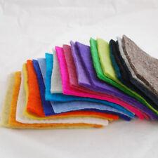 """Fait main 100% laine feutre tissu - 5mm épais - 20 assortiment de 6 """"feuilles carrées bundle"""