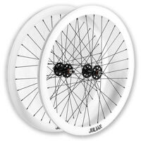 EighthInch Julian V2 Track Fixed Gear Deep V Wheelset 32 White Non-Machined