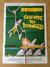 Filmposter * Kinoplakat * A1 * Schande des Dschungels * 1975 * Picha