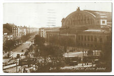 Berlin Askanischer Platz & Anhalter Bahnhof RP PPC 1925 Neukoln PMK to London GB
