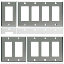 Stainless Steel, GFCI GFI Decora Style, Wall Cover Plate, 1, 2, 3, 4 Gangs, New