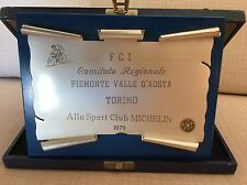 CICLISMO 1979 TARGA FEDERAZIONE ITALIANA CICLISMO  A SPORT CLUB MICHELIN