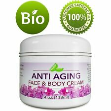 Anti Aging Cream for Face & Body Best for Wrinkles Scars Blemishes 100% NATURAL