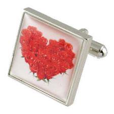 Valentines Day Cufflinks Love Flower Heart Cufflinks Select Gift Pouch