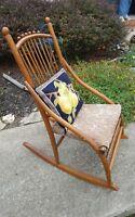 1800s Handmade Antique Rocking Chair Sewing Rocker Old Salem NC
