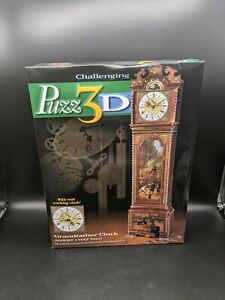 Challenging PUZZ 3D Grandfather Clock with Real Working Clock BRAND NEW Open Box